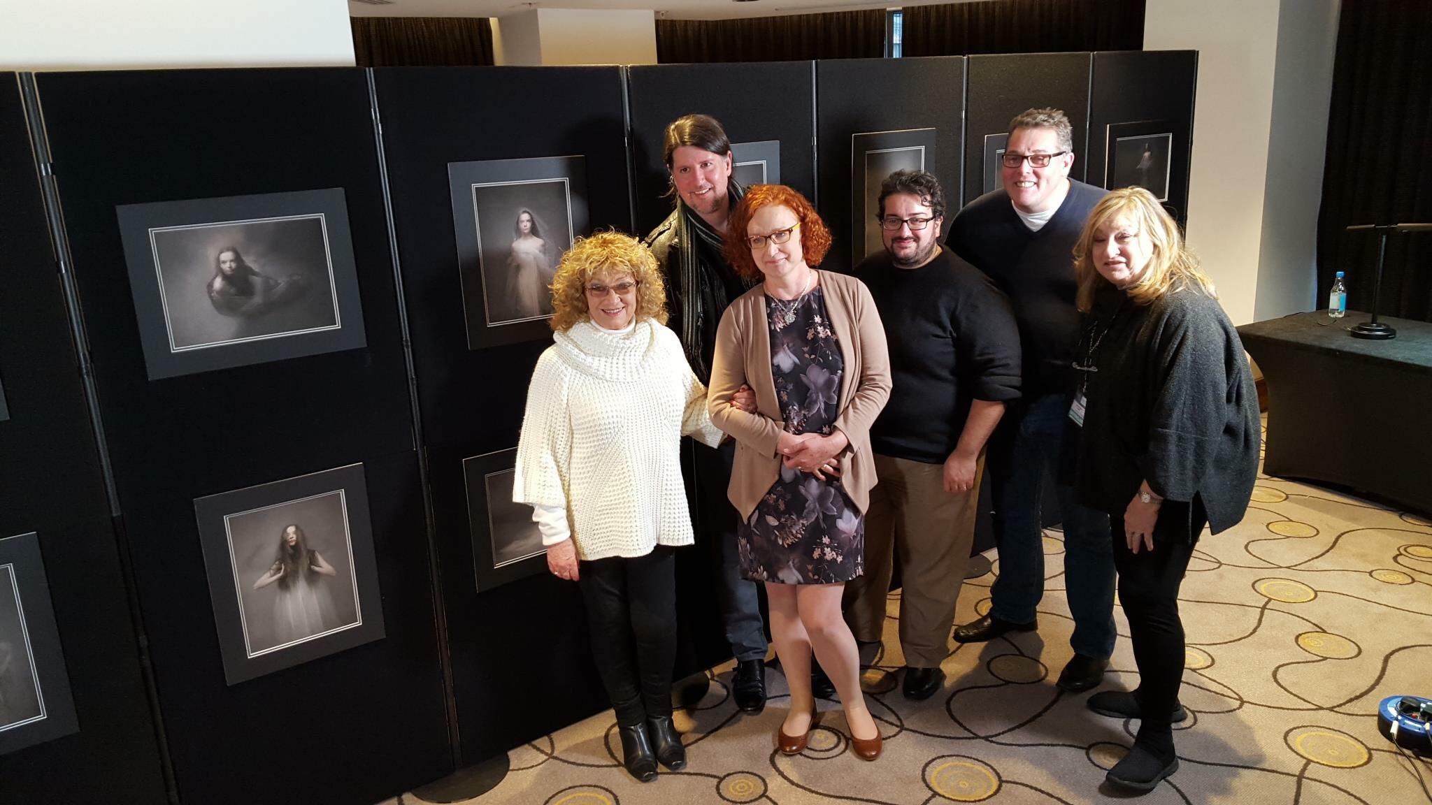 This Image Shows Jocelyn Conway with the Judges that awarded her a Fellowship at the SWPP Convention 2016